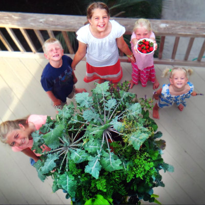 The Garden Tower teaches kids the importance of growing health food